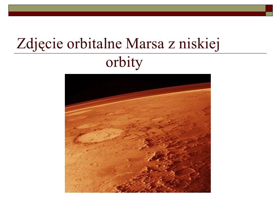 Zdjęcie orbitalne Marsa z niskiej orbity