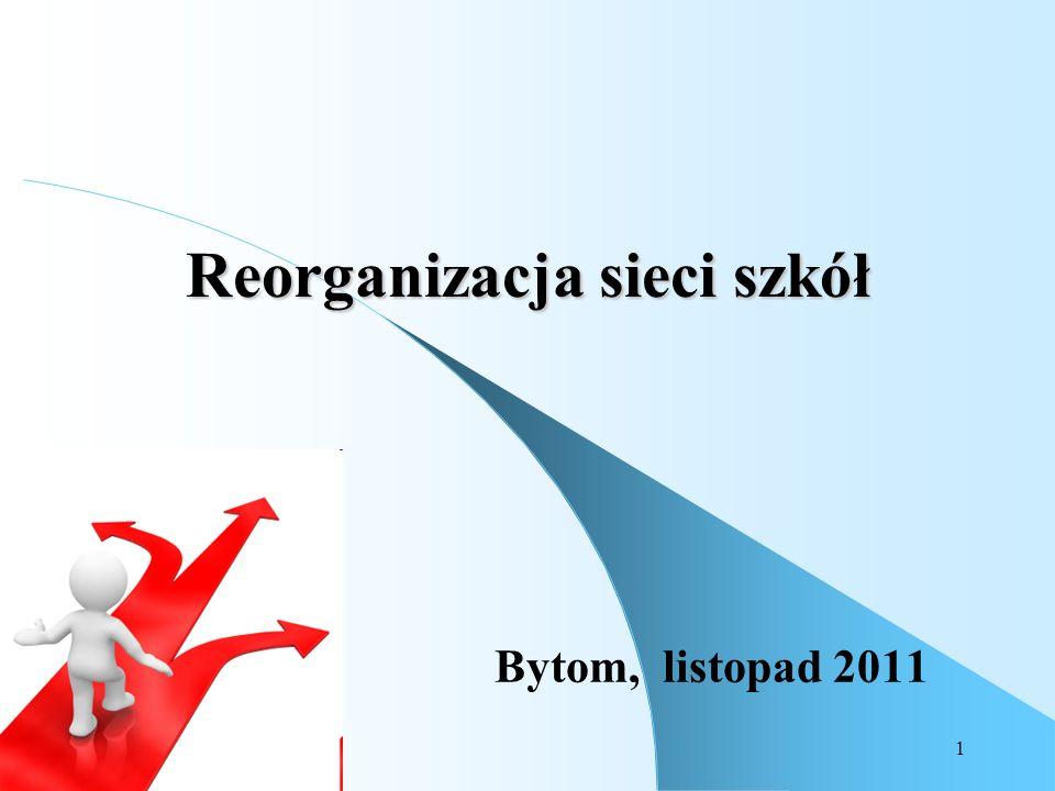 1 Reorganizacja sieci szkół Bytom, listopad 2011