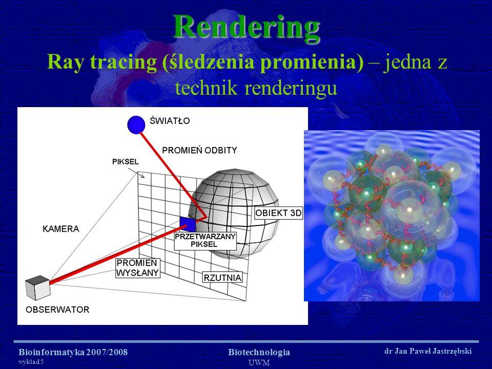 Bioinformatyka 2007/2008 wykład 5 Biotechnologia UWM dr Jan Paweł Jastrzębski Wizualizacja wektorowa