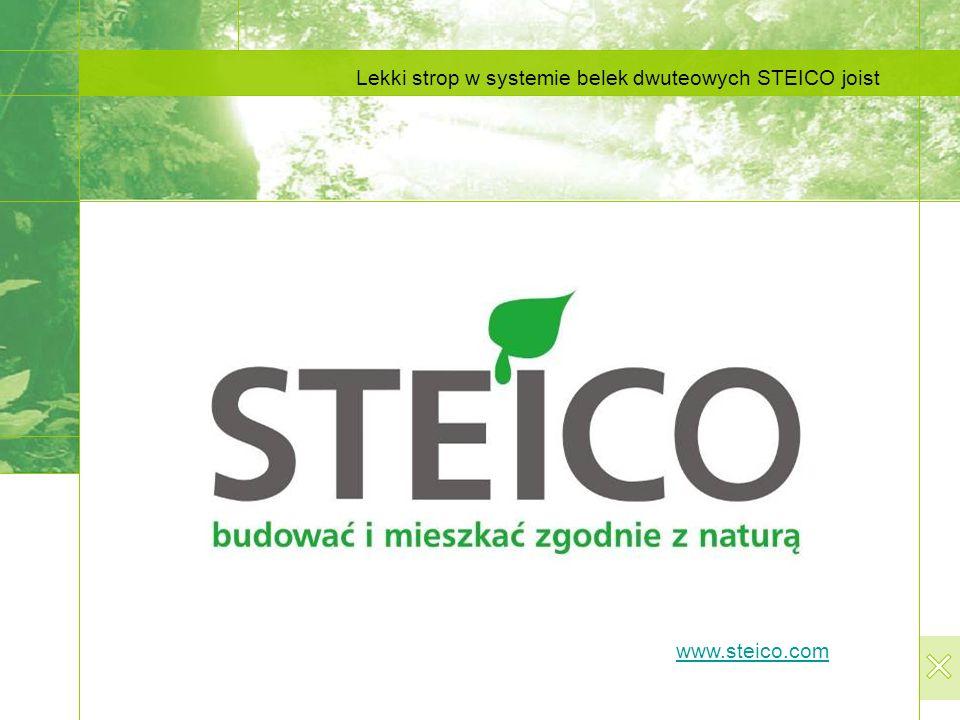 Lekki strop w systemie belek dwuteowych STEICO joist www.steico.com