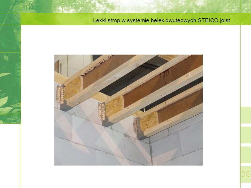 Lekki strop w systemie belek dwuteowych STEICO joist