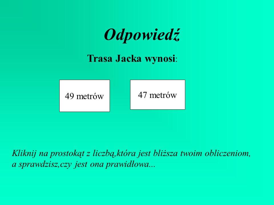 Ćwiczenie Trasa Jacka META 19 m 5 m 2 m 7 m 4 m