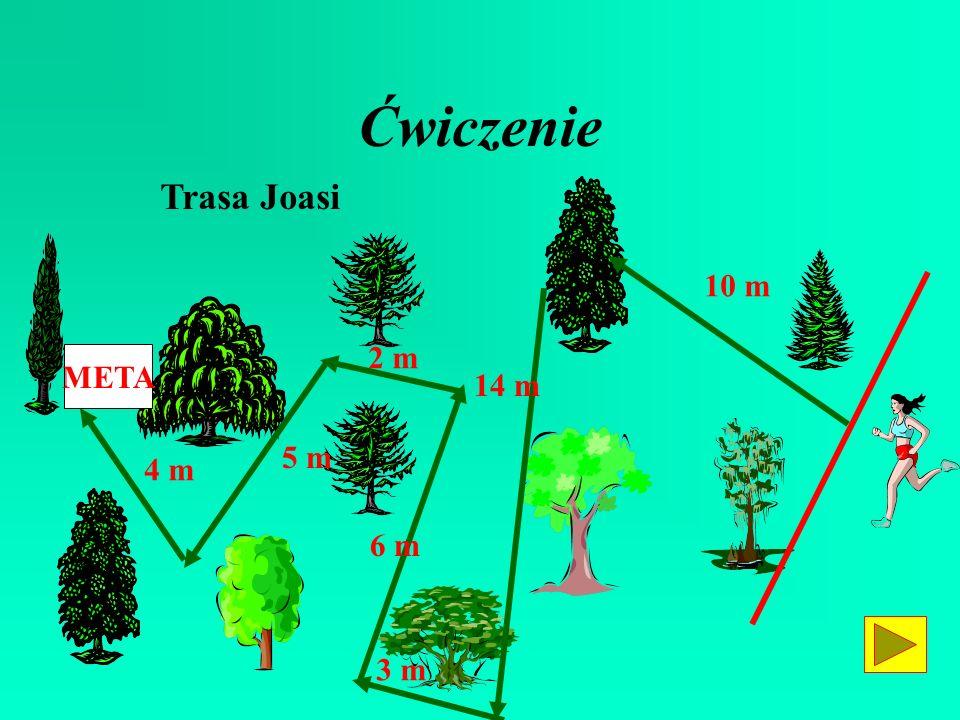 Ćwiczenie Trasa Joasi META 14 m 10 m 3 m 6 m 2 m 5 m 4 m