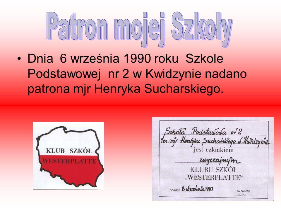 Dnia 6 września 1990 roku Szkole Podstawowej nr 2 w Kwidzynie nadano patrona mjr Henryka Sucharskiego.