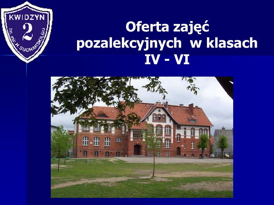 Oferta zajęć pozalekcyjnych w klasach IV - VI