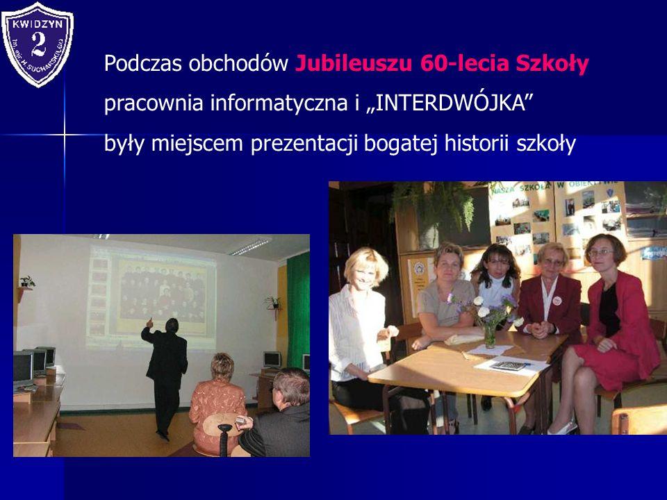 Podczas obchodów Jubileuszu 60-lecia Szkoły pracownia informatyczna i INTERDWÓJKA były miejscem prezentacji bogatej historii szkoły