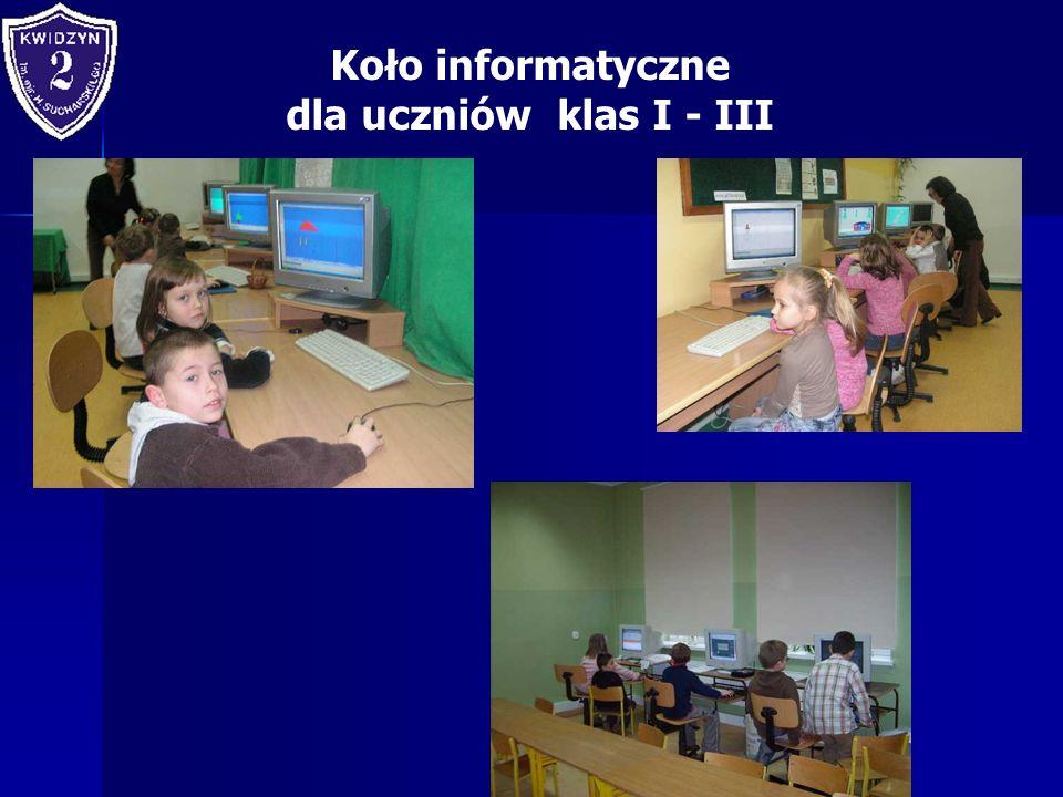 Koło informatyczne dla uczniów klas I - III