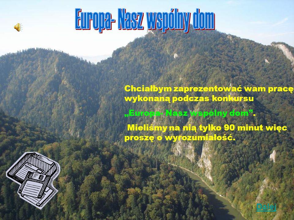 Chciałbym zaprezentować wam pracę wykonaną podczas konkursu Europa- Nasz wspólny dom.