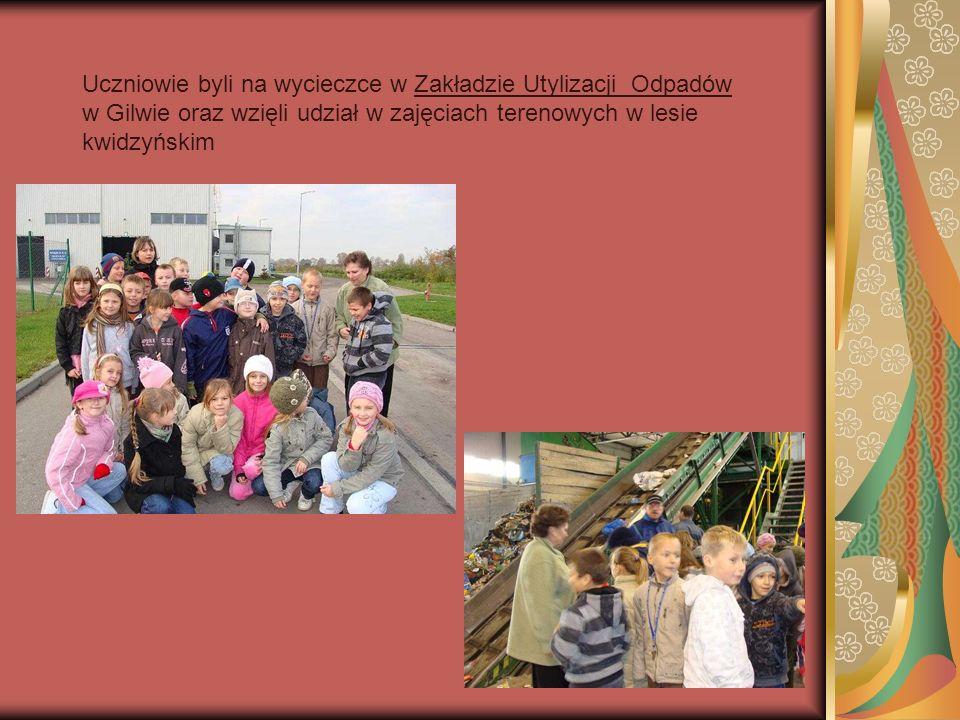Uczniowie byli na wycieczce w Zakładzie Utylizacji Odpadów w Gilwie oraz wzięli udział w zajęciach terenowych w lesie kwidzyńskim