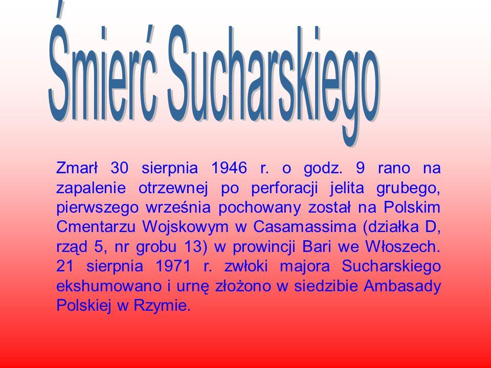 Zmarł 30 sierpnia 1946 r. o godz. 9 rano na zapalenie otrzewnej po perforacji jelita grubego, pierwszego września pochowany został na Polskim Cmentarz