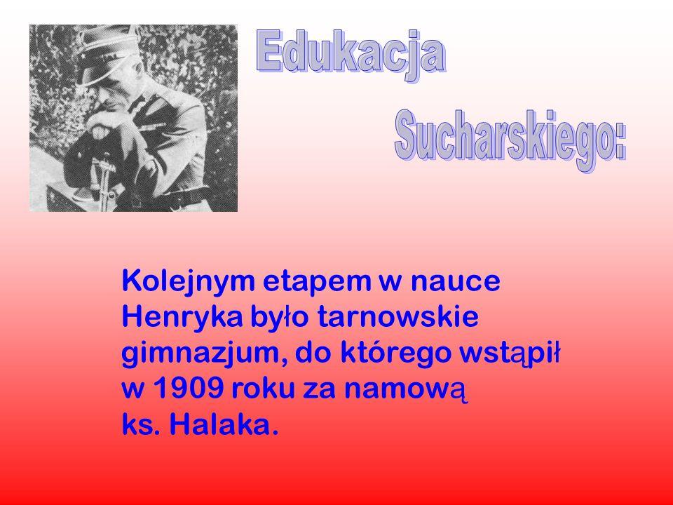 Kolejnym etapem w nauce Henryka by ł o tarnowskie gimnazjum, do którego wst ą pi ł w 1909 roku za namow ą ks. Halaka.