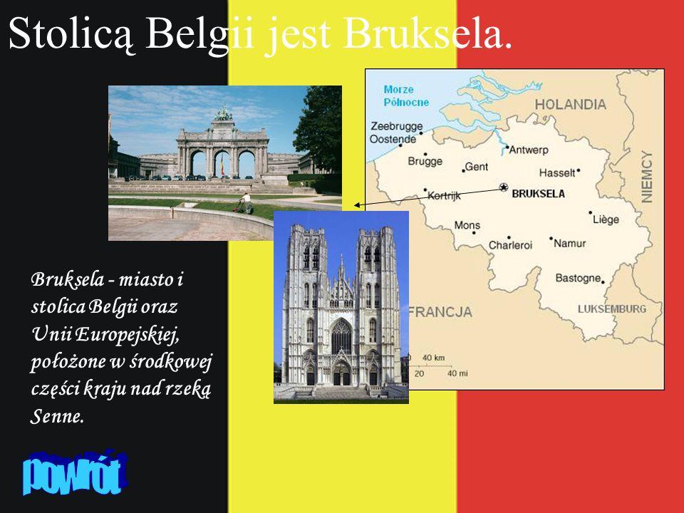Stolicą Belgii jest Bruksela. Bruksela - miasto i stolica Belgii oraz Unii Europejskiej, położone w środkowej części kraju nad rzeką Senne.