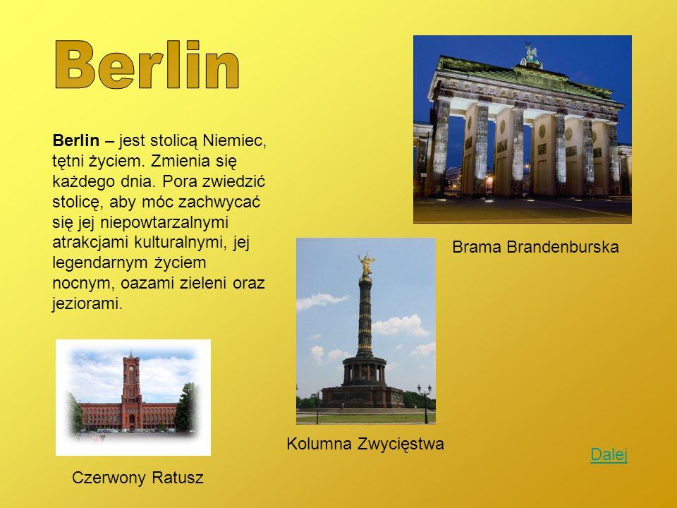 Berlin – jest stolicą Niemiec, tętni życiem. Zmienia się każdego dnia. Pora zwiedzić stolicę, aby móc zachwycać się jej niepowtarzalnymi atrakcjami ku