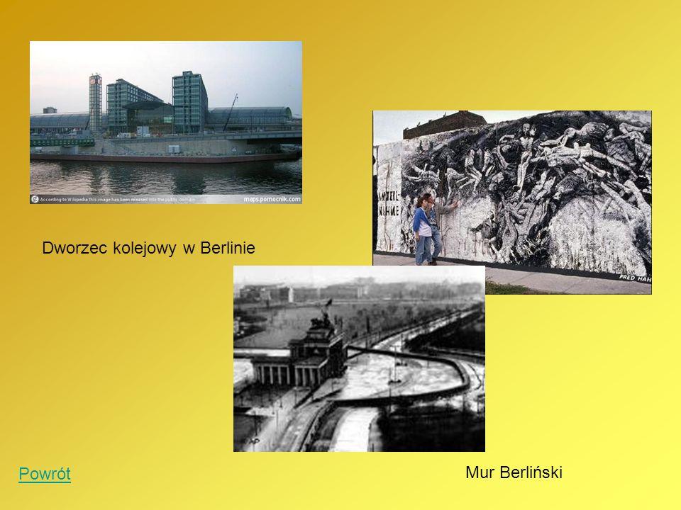 Dworzec kolejowy w Berlinie Mur Berliński Powrót