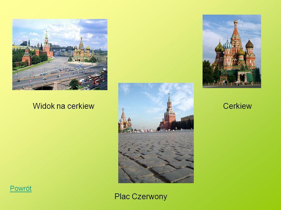 Widok na cerkiewCerkiew Plac Czerwony Powrót