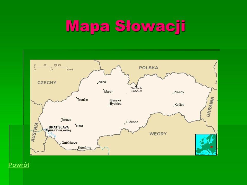 Mapa Słowacji Powrót