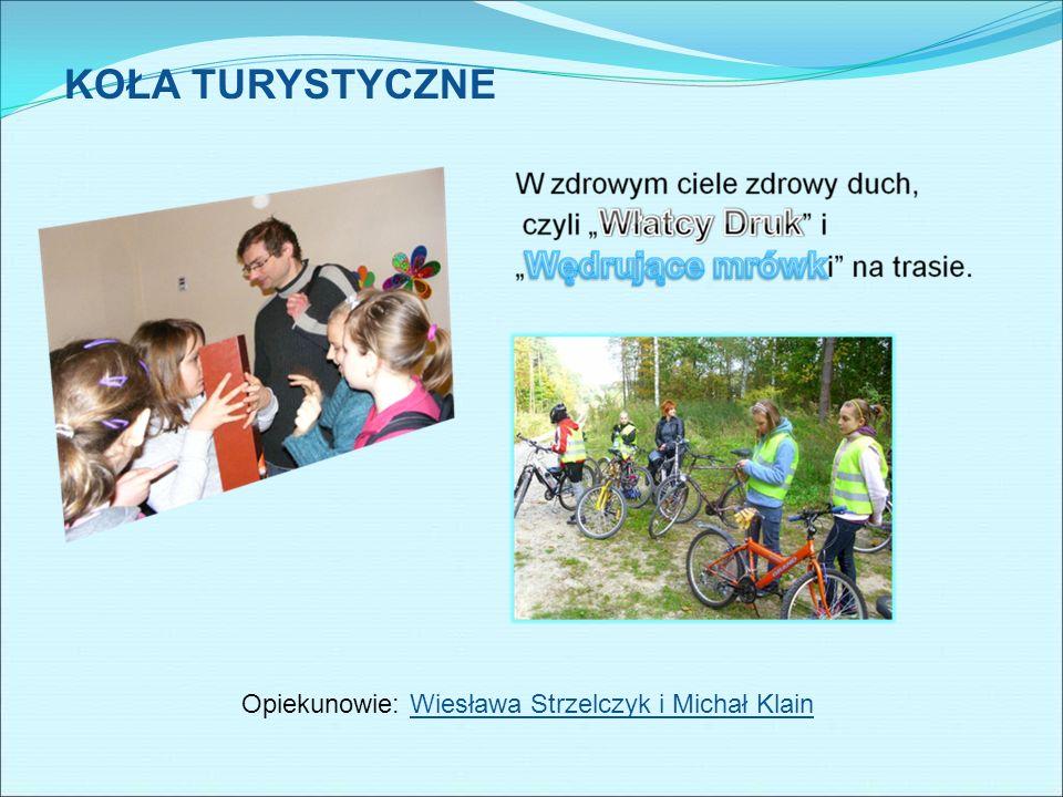 KOŁA TURYSTYCZNE Opiekunowie: Wiesława Strzelczyk i Michał Klain