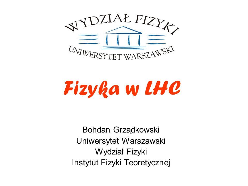 Fizyka w LHC Bohdan Grządkowski Uniwersytet Warszawski Wydział Fizyki Instytut Fizyki Teoretycznej