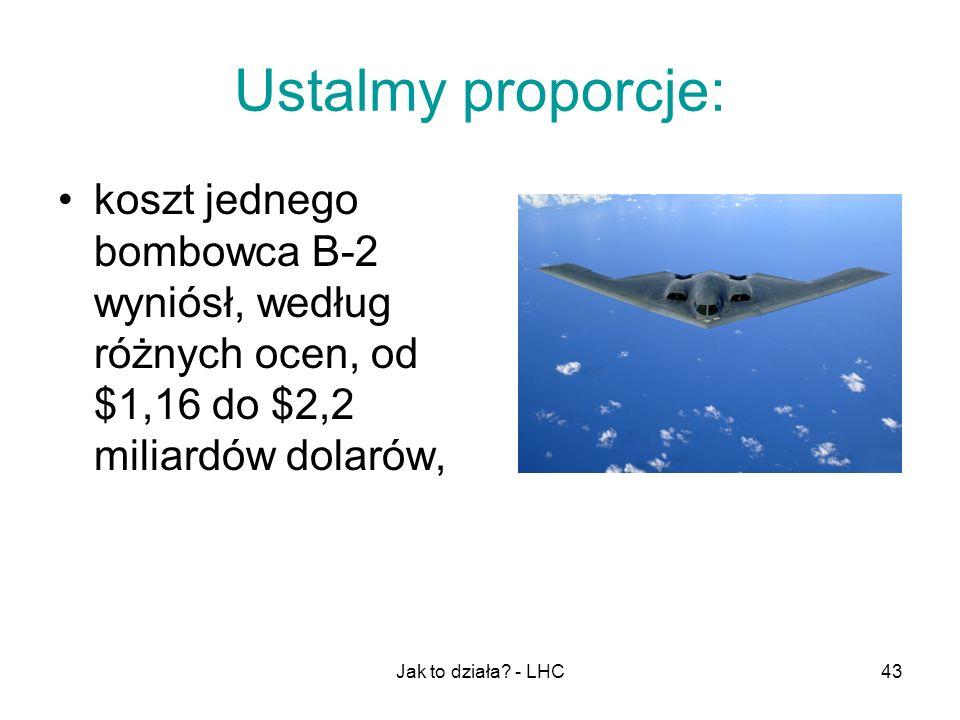 Jak to działa? - LHC43 Ustalmy proporcje: koszt jednego bombowca B-2 wyniósł, według różnych ocen, od $1,16 do $2,2 miliardów dolarów,