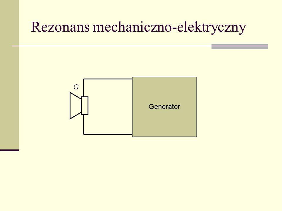 Rezonans mechaniczno-elektryczny G Generator