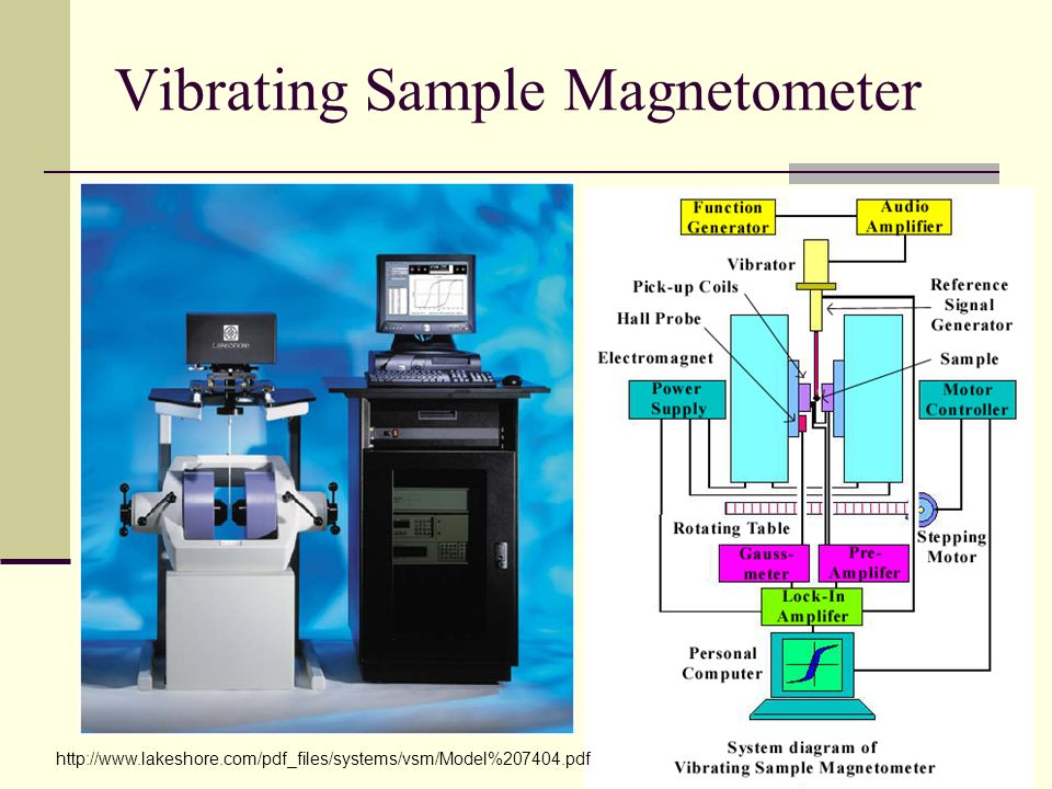 Vibrating Sample Magnetometer http://www.lakeshore.com/pdf_files/systems/vsm/Model%207404.pdf