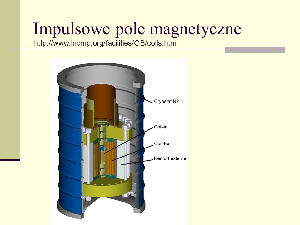 Impulsowe pole magnetyczne http://www.lncmp.org/facilities/GB/coils.htm