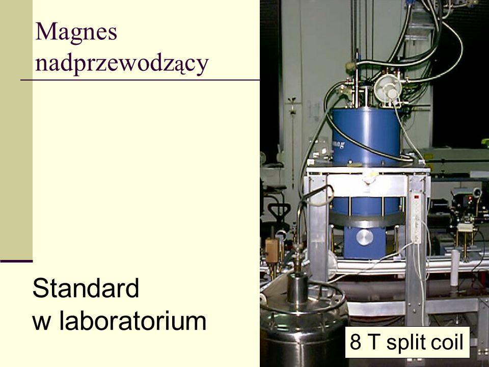 Magnes nadprzewodz ą cy Standard w laboratorium 8 T split coil