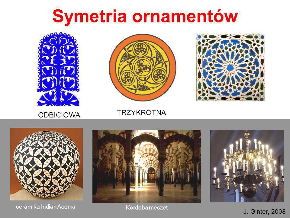 24 czerwca 2008 r.Letnia Szkoła Fizyki Warszawa Symetria ornamentów ODBICIOWA TRZYKROTNA Kordoba meczet ceramika Indian Acoma a J. Ginter, 2008