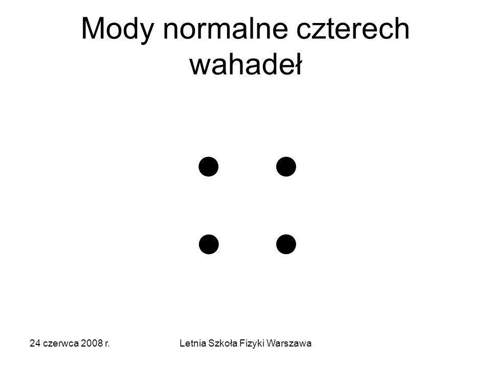 24 czerwca 2008 r.Letnia Szkoła Fizyki Warszawa Mody normalne czterech wahadeł