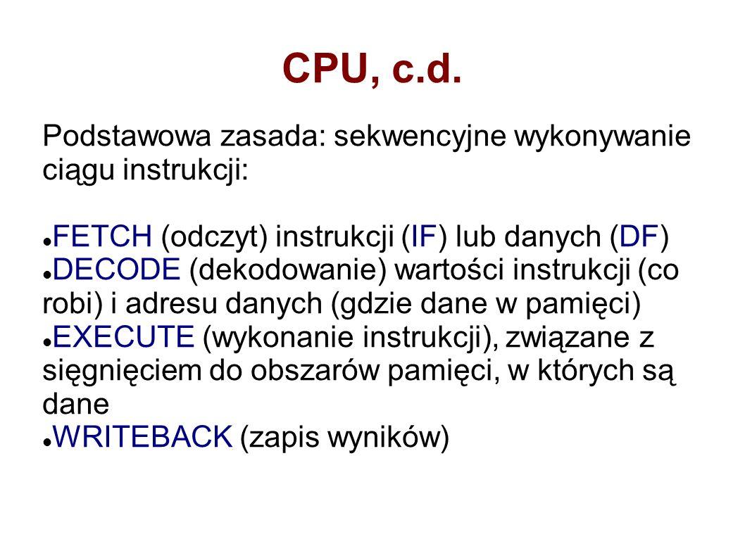 CPU, c.d.