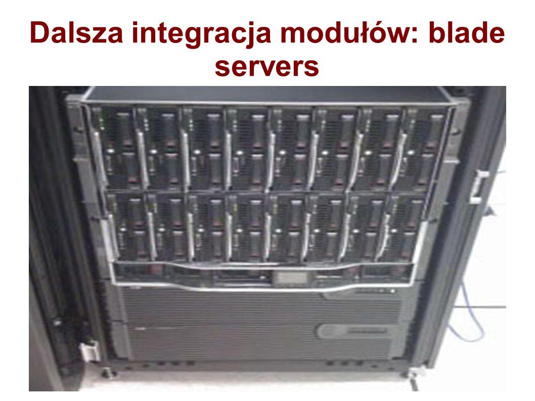 Dalsza integracja modułów: blade servers