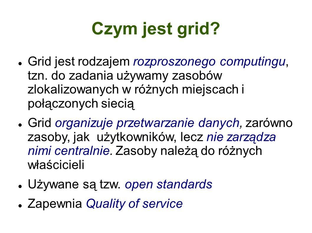 Czym jest grid. Grid jest rodzajem rozproszonego computingu, tzn.