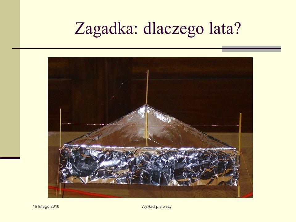 16 lutego 2010 Wykład pierwszy Zagadka: dlaczego lata?