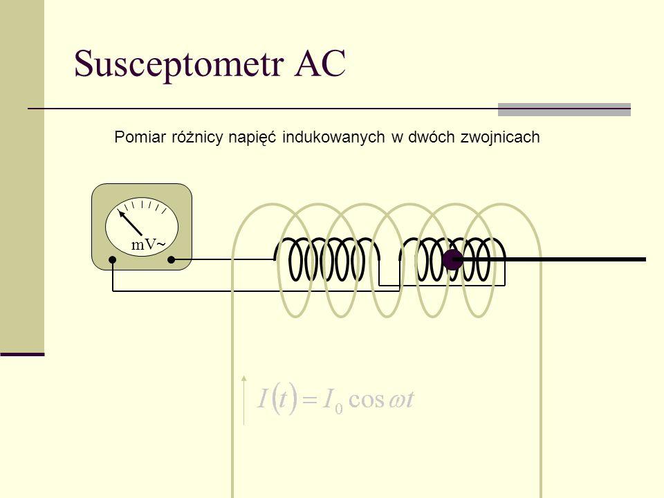 Susceptometr AC mV Pomiar różnicy napięć indukowanych w dwóch zwojnicach