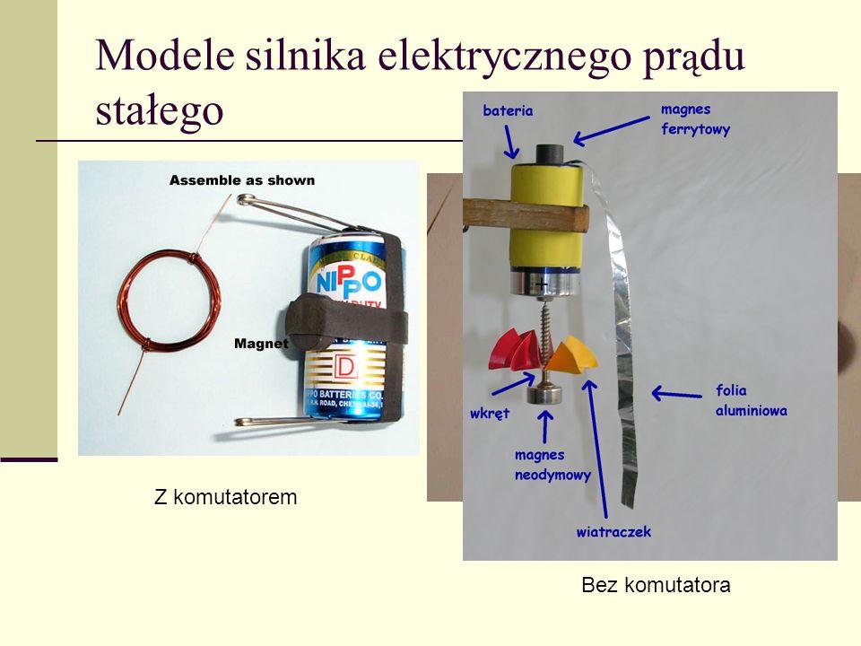 Modele silnika elektrycznego pr ą du stałego Z komutatorem Bez komutatora
