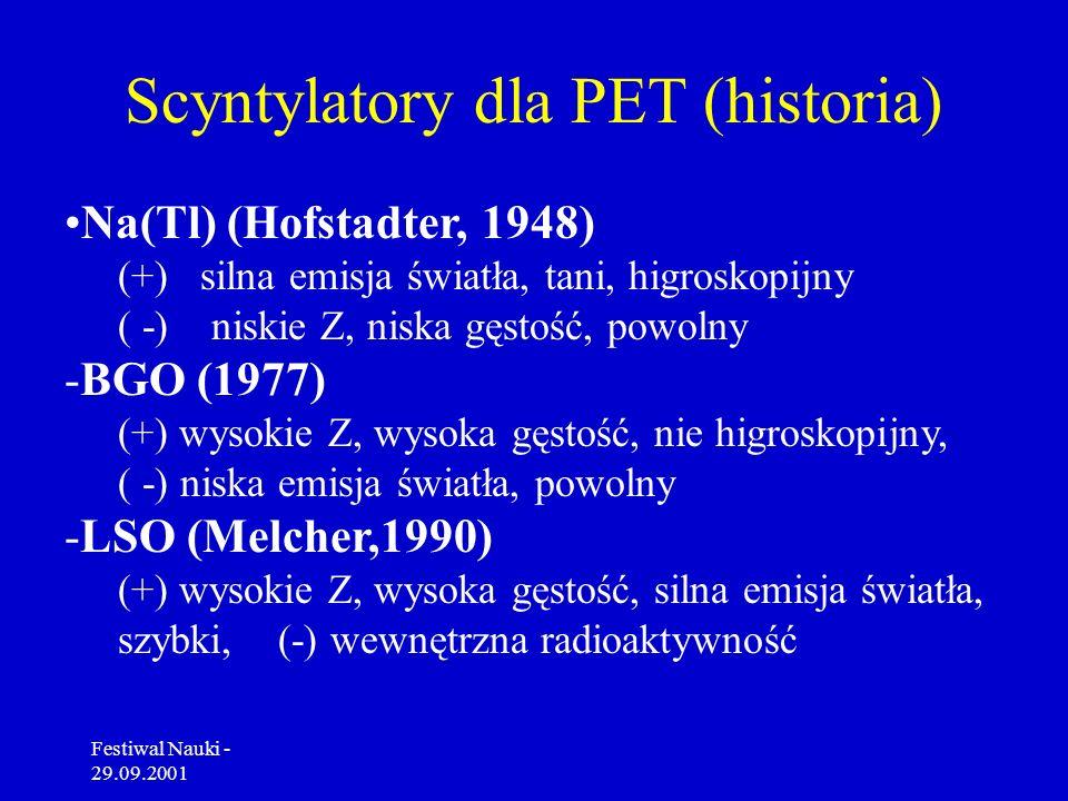 Festiwal Nauki - 29.09.2001 Tomograf pozytonowy