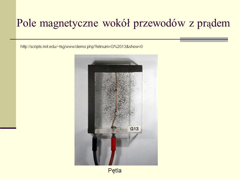 Pole magnetyczne wokół przewodów z pr ą dem Pętla http://scripts.mit.edu/~tsg/www/demo.php?letnum=G%2013&show=0