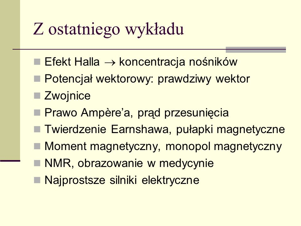 Galwanometr – drgania tłumione L – moment pędu (składowa)