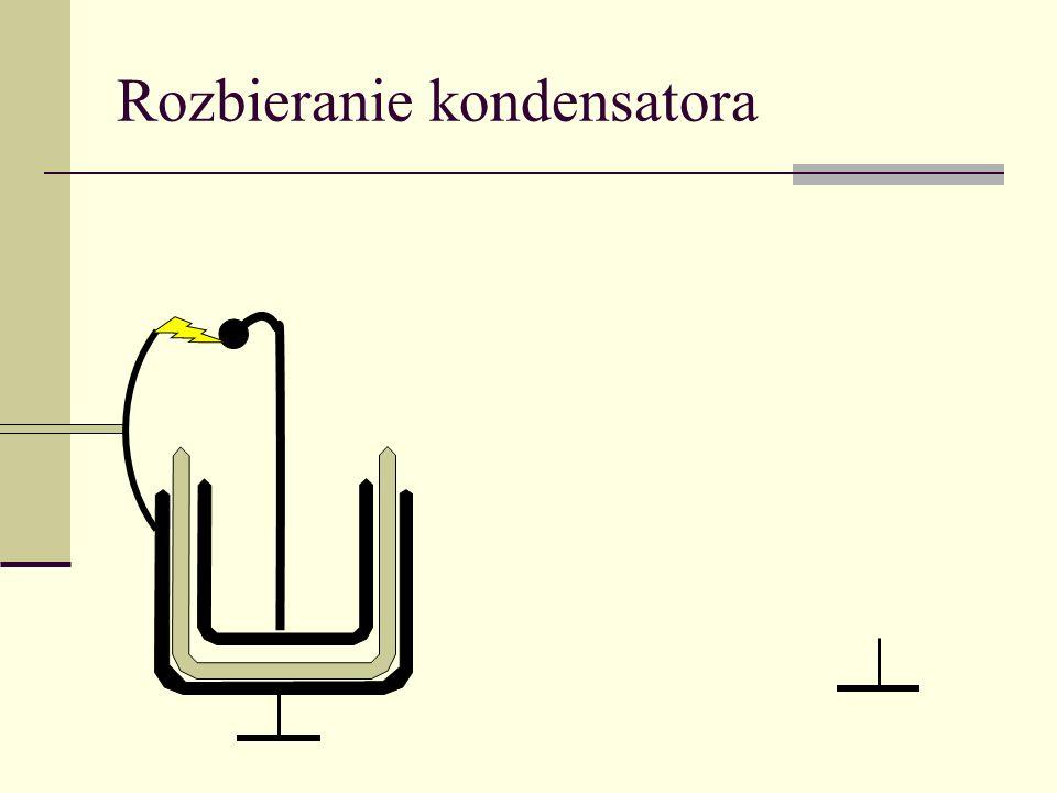 Energia pola elektrostatycznego Przy przesuwaniu powierzchni przewodnika wykonywana jest praca Jednocześnie ubywa pola z objętości zakreślonej przez p