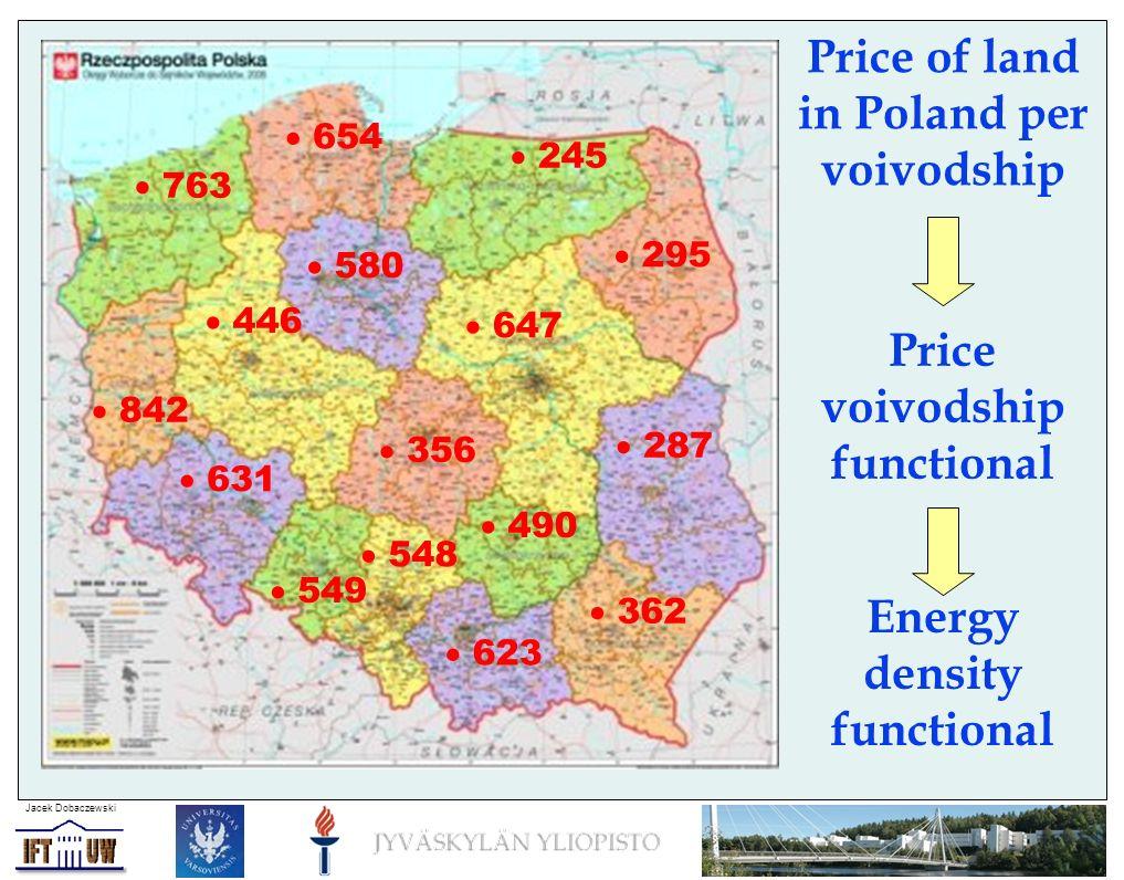 Jacek Dobaczewski Price of land in Poland per district Energy density functional Price district functional