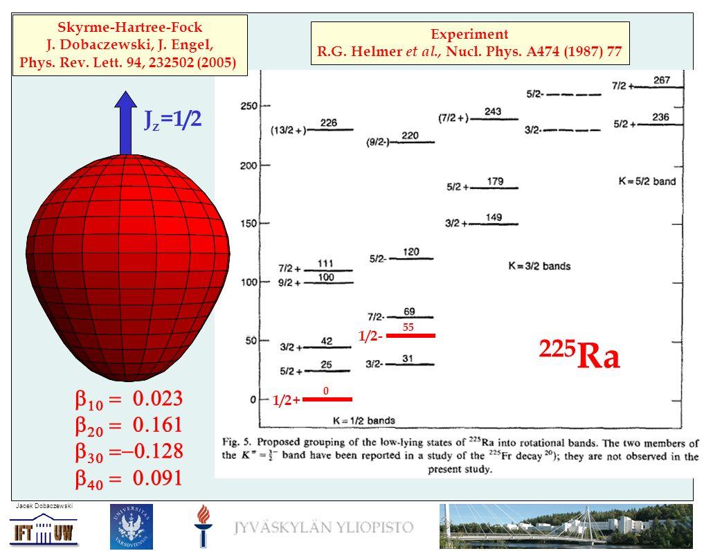 225 Ra Experiment R.G. Helmer et al., Nucl. Phys.