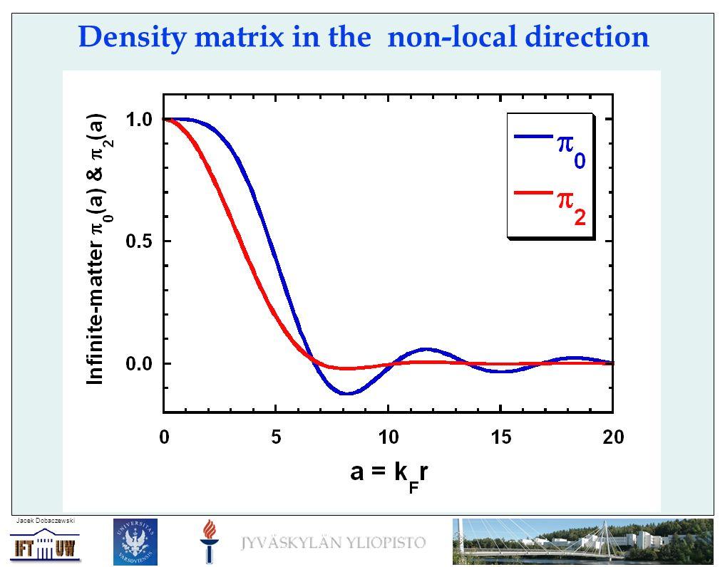 Jacek Dobaczewski Density matrix in the non-local direction