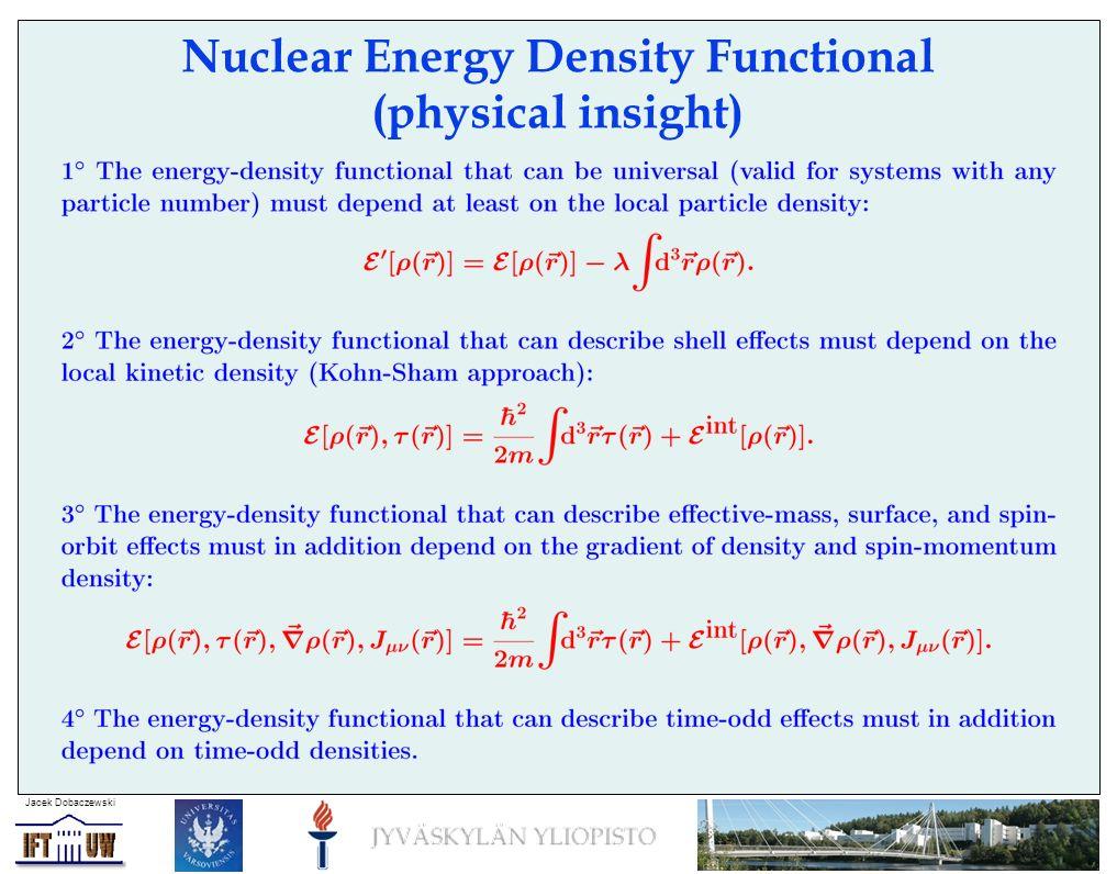 Jacek Dobaczewski Mean-field equations