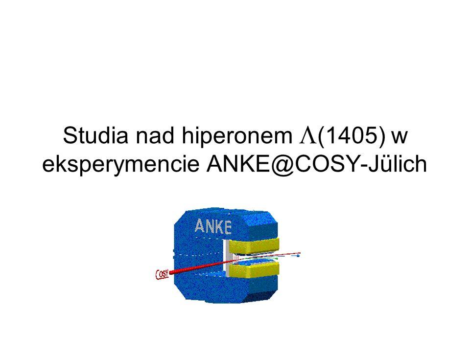 Studia nad hiperonem (1405) w eksperymencie ANKE@COSY-Jülich
