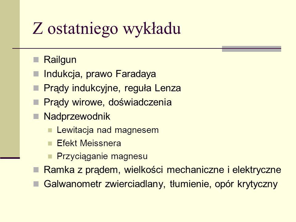 Przykład drugi: Pr ą dnica o oporze R W obci ąż ona oporem R Z Zaniedbujemy bezwładność wirnika (stan stacjonarny) i opory mechaniczne.