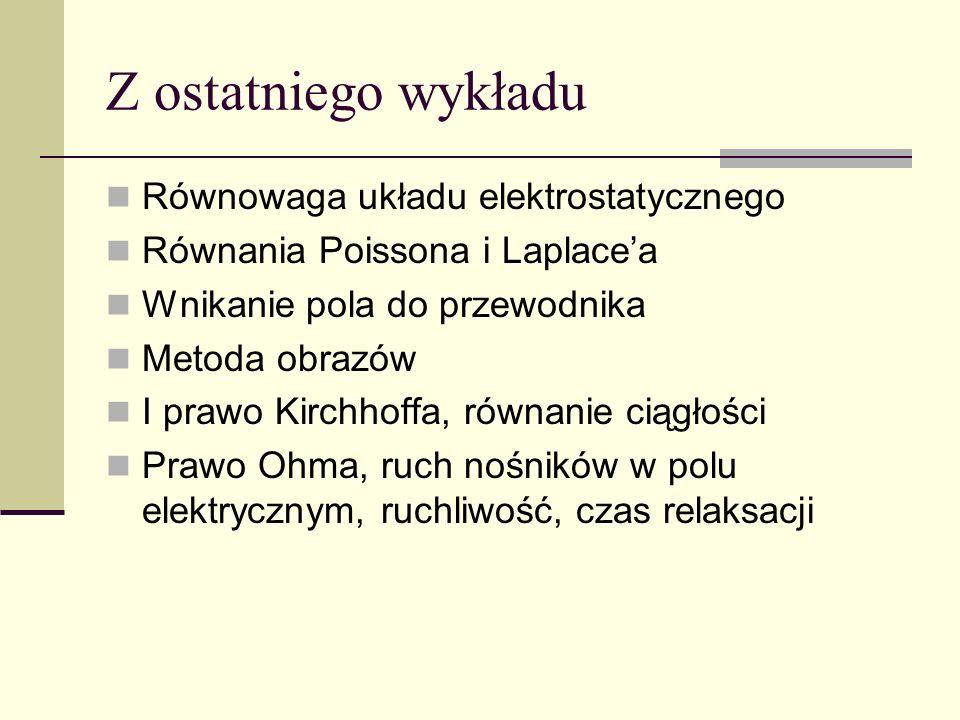 Dioda półprzewodnikowa Nie spełnia prawa Ohma. W uproszczeniu: k = 0.086 meV/K I U
