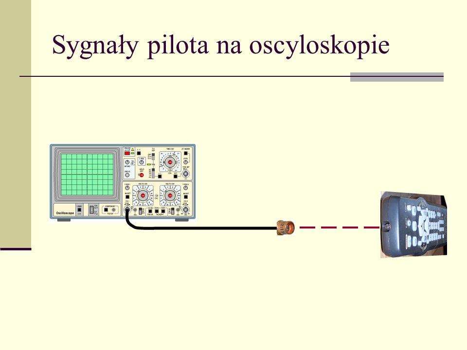 Sygnały pilota na oscyloskopie