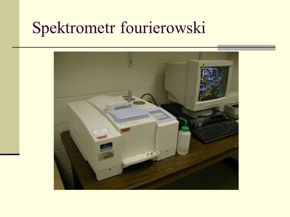 Spektroskopia fourierowska interferogram widmo FFT Spektroskopia fourierowska jest wykorzystywana w obszarze od dalekiej podczerwieni do nadfioletu.