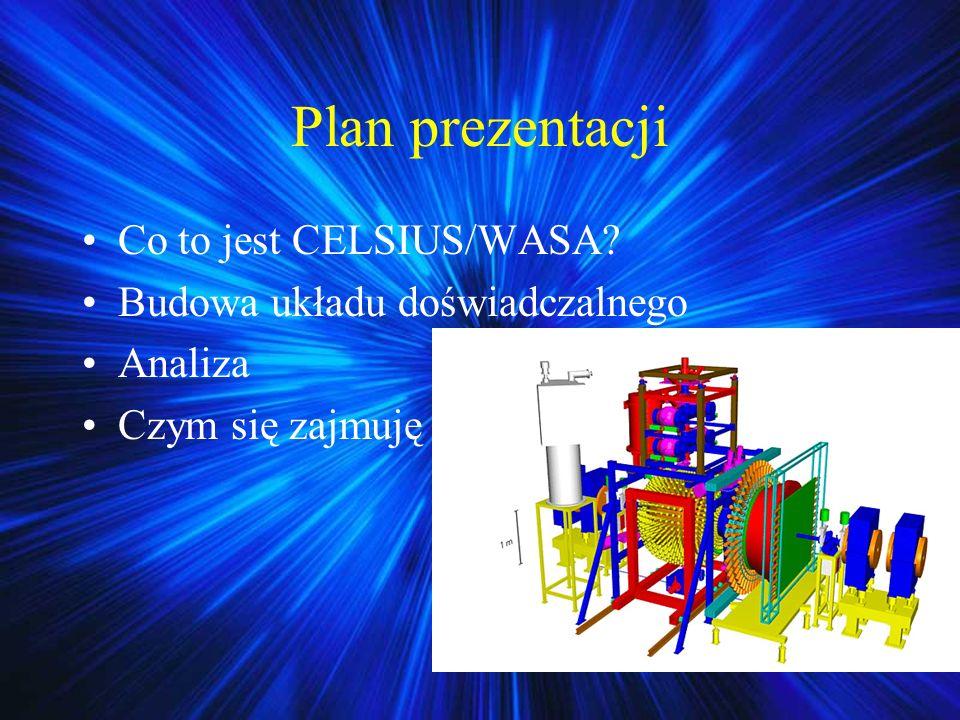 Plan prezentacji Co to jest CELSIUS/WASA? Budowa układu doświadczalnego Analiza Czym się zajmuję