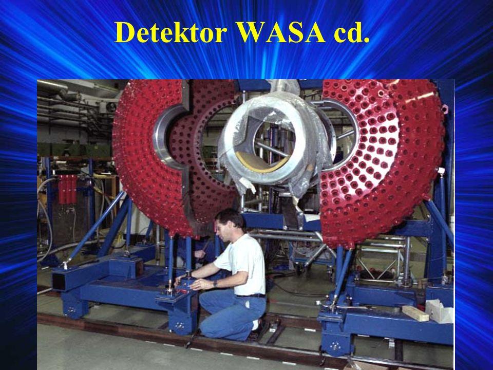 Centralny i przedni detektor Magnes nadprzewodzący Miniaturowa komora dryftowa Plastic scintillator barell Forward trigger hodoscope